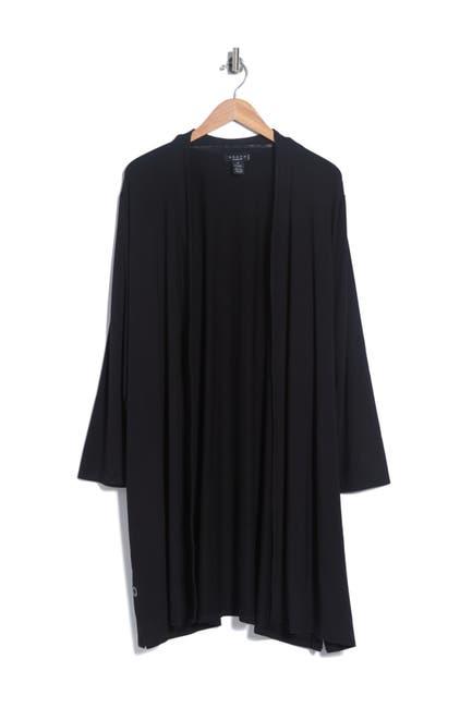 Image of GRACE ELEMENTS Long Sleeve Open Drape Front Cardigan