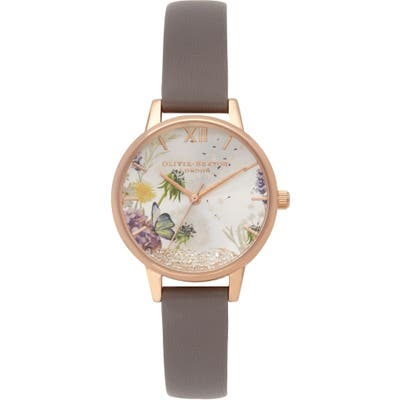 Olivia Burton Wishing Leather Strap Watch, 35Mm