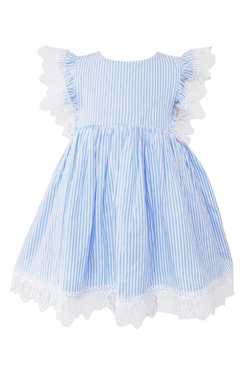 5560ec567b0d Popatu Lace & Stripe Pinafore Dress (Toddler Girls, Little Girls ...
