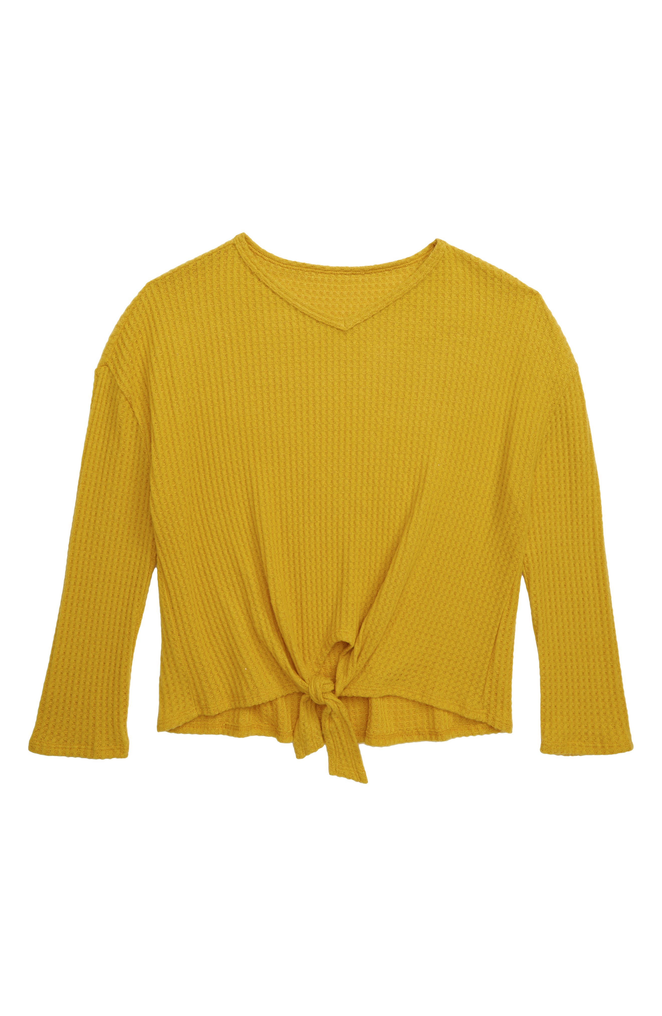 Girls Tucker  Tate Coziest Ever Waffle Top Size S (78)  Yellow