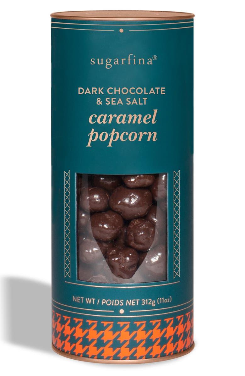 SUGARFINA Dark Chocolate & Sea Salt Caramel Popcorn, Main, color, BLUE