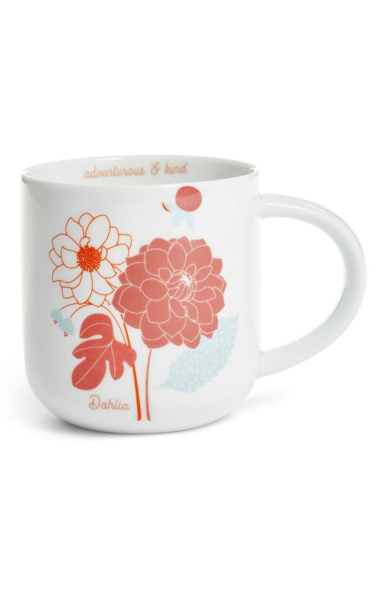 NORDSTROM AT HOME Flower Mug, Main, color, DAHLIA