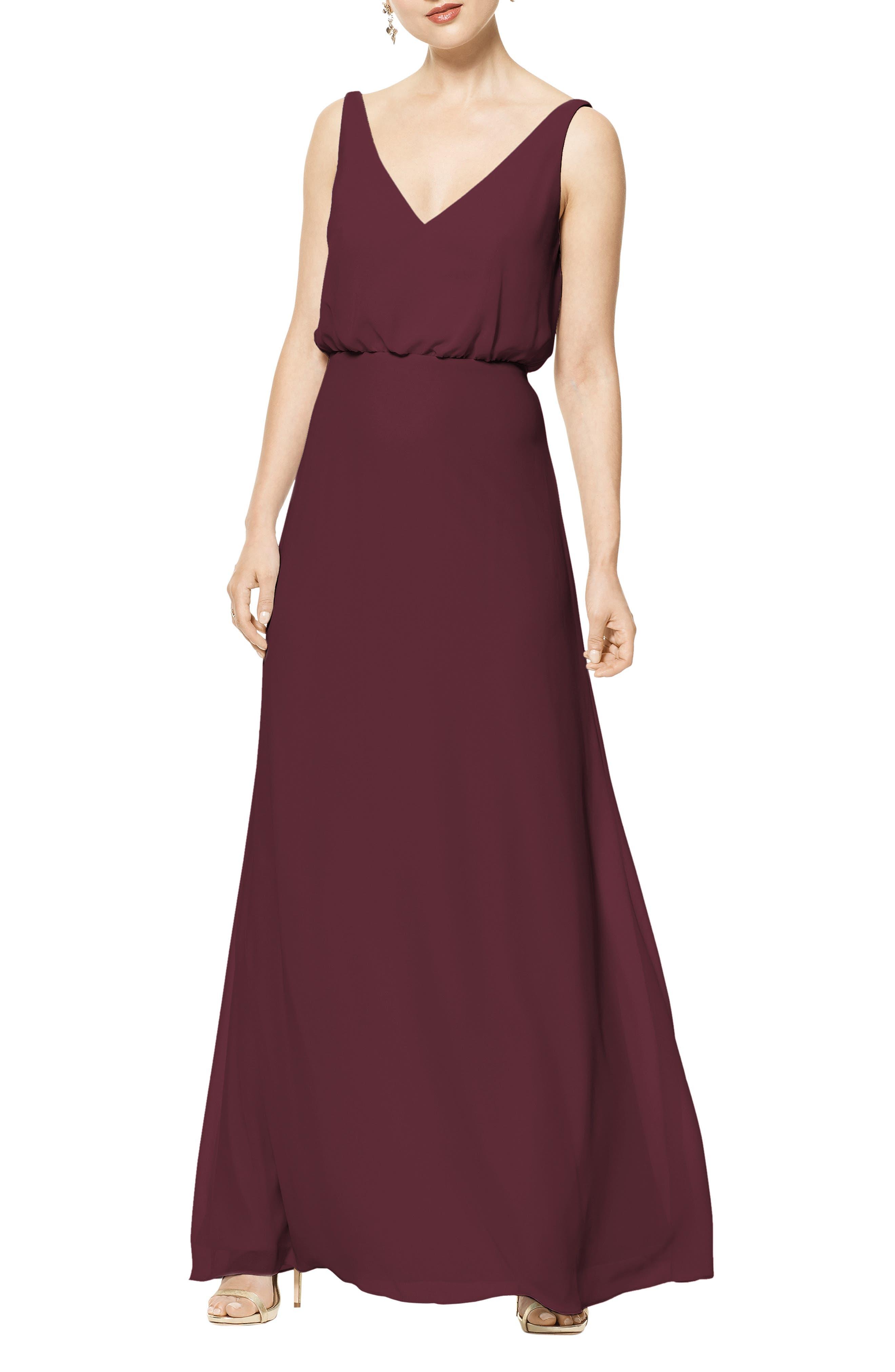 Blouson Chiffon A-Line Gown