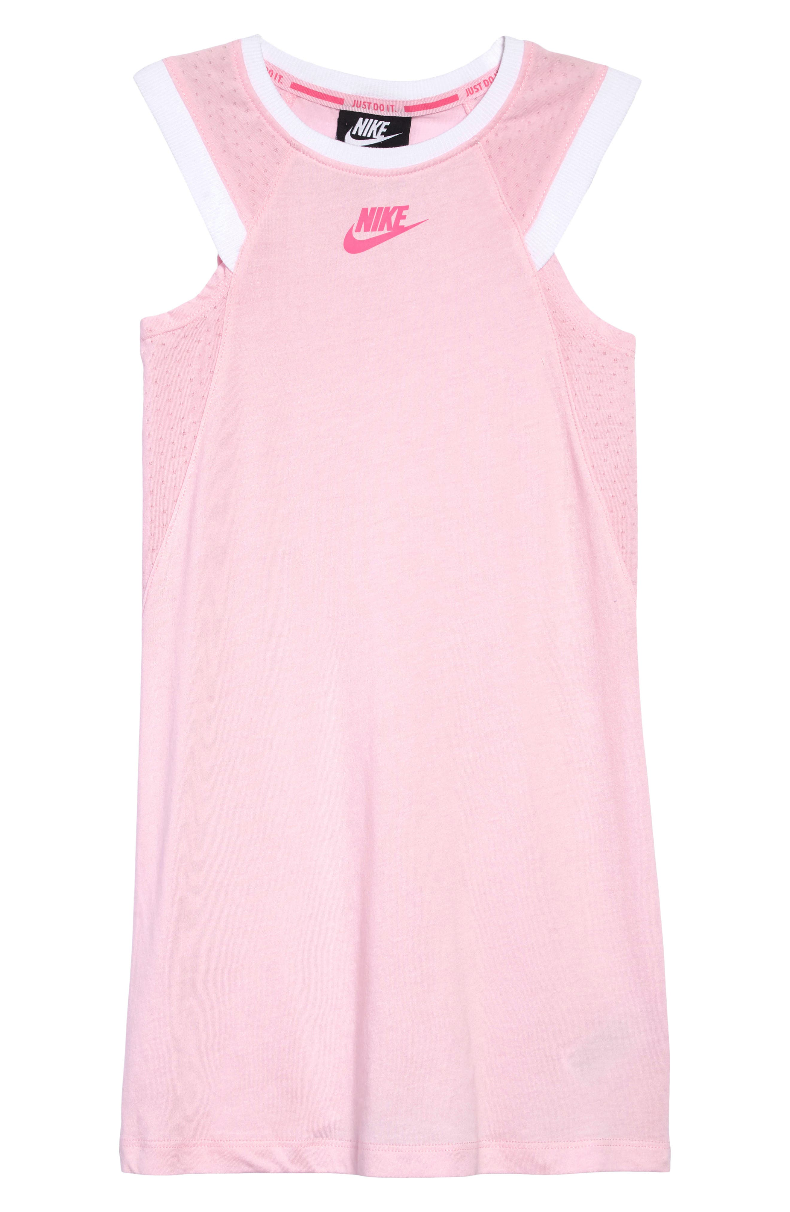 ,                             Sportswear Dress,                             Main thumbnail 1, color,                             PINK FOAM