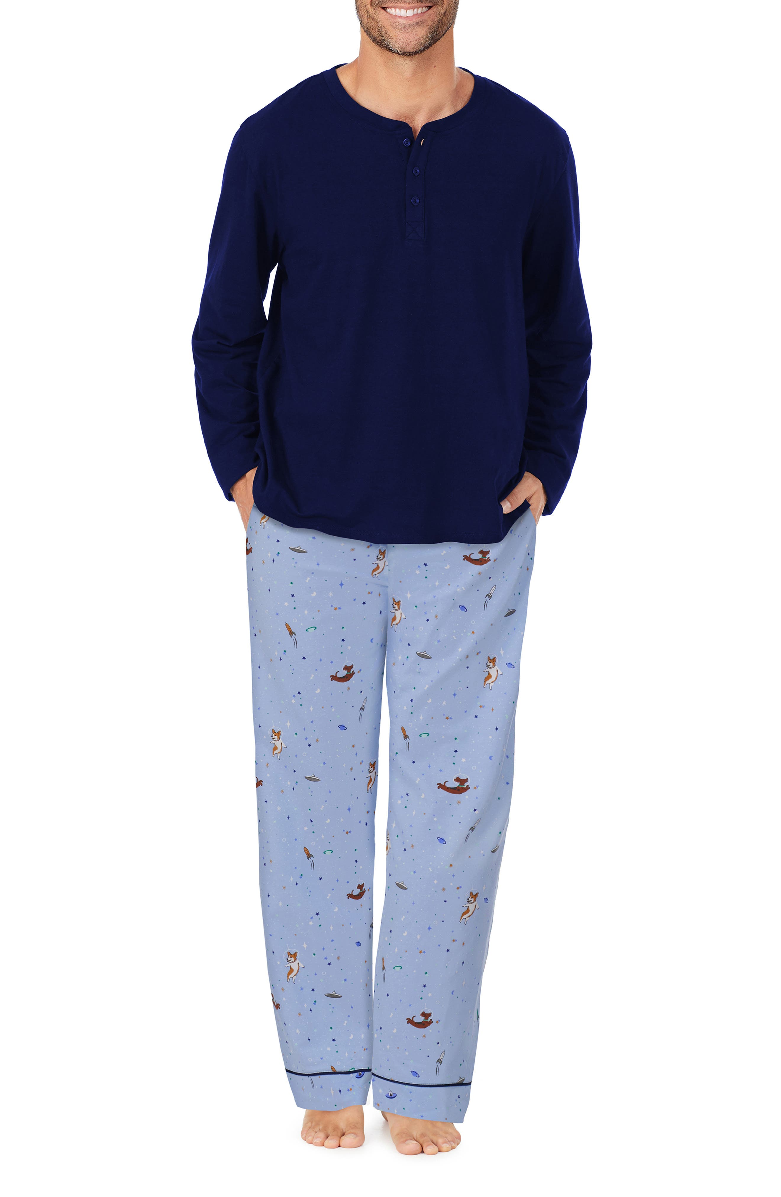 Stretch Organic Cotton Henley Pajamas
