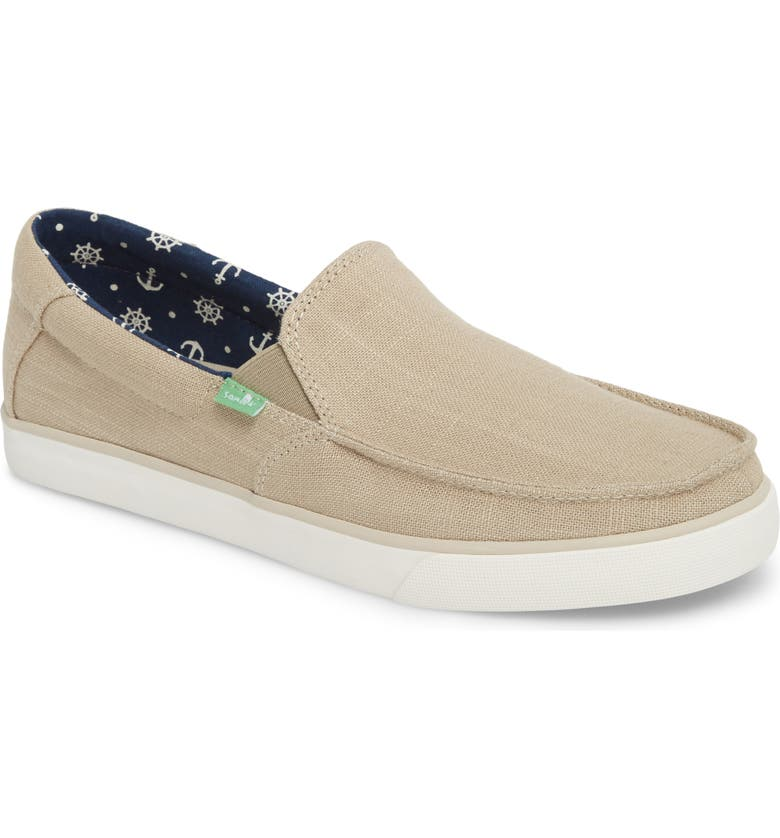 SANUK Sideline Linen Slip-On, Main, color, NATURAL