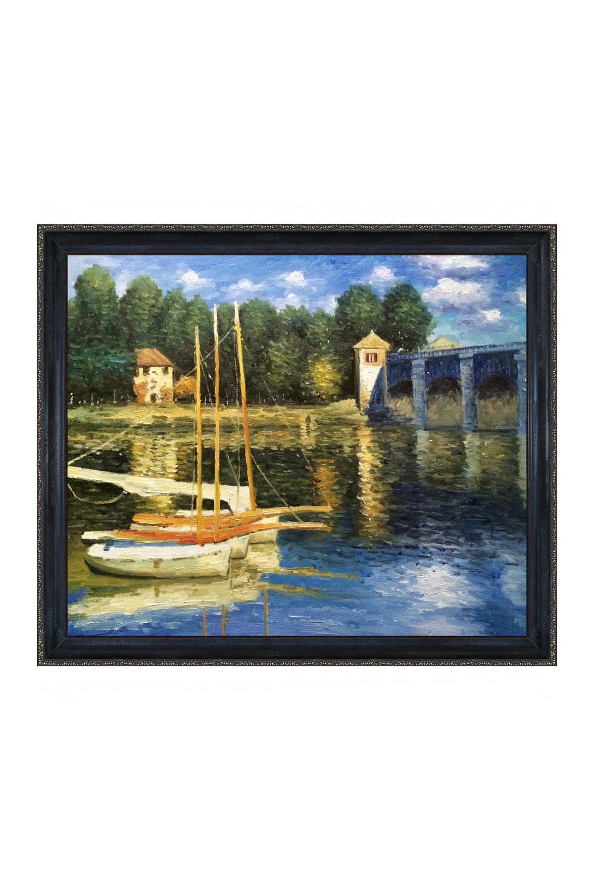 Overstock Art The Road Bridge at Argenteuil with La Scala Frame, 23\\\