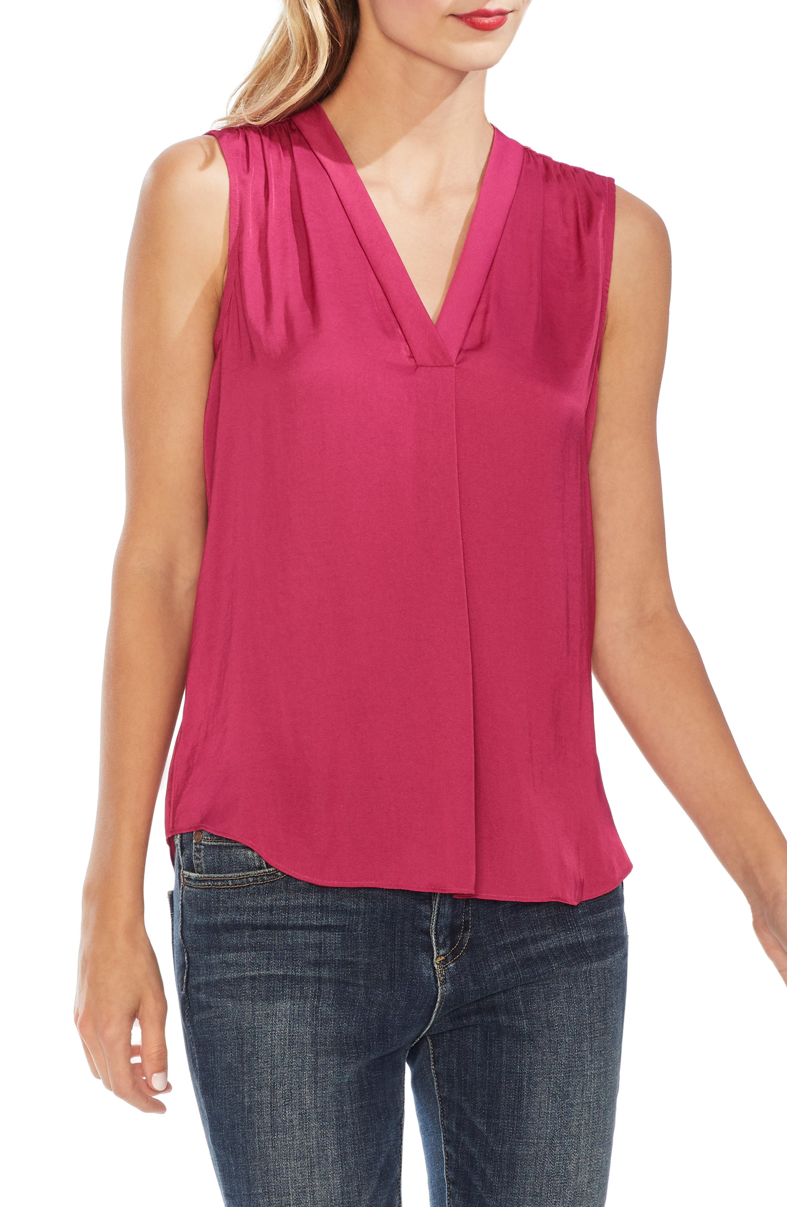 ,                             Rumpled Satin Blouse,                             Main thumbnail 68, color,                             670