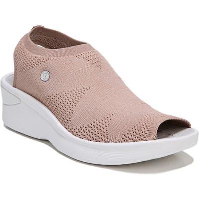 Bzees Secret Peep Toe Knit Sneaker, Pink