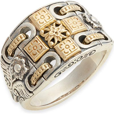 Konstantino Kleos Wide Engraved Ring