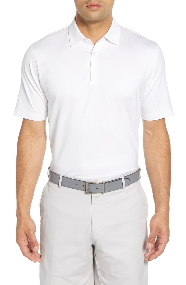 PETER MILLAR Excursionist Flex Stretch Polo, Main, color, WHITE
