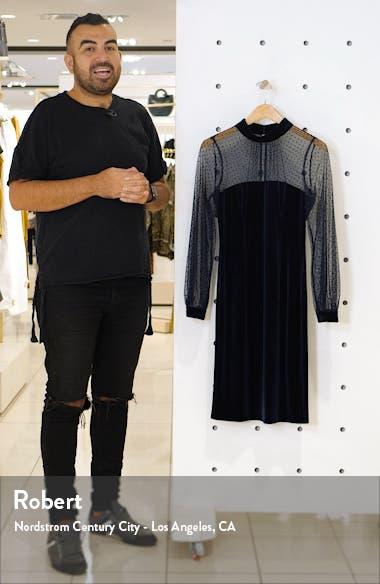 Illusion Bodice Velvet Party Dress, sales video thumbnail