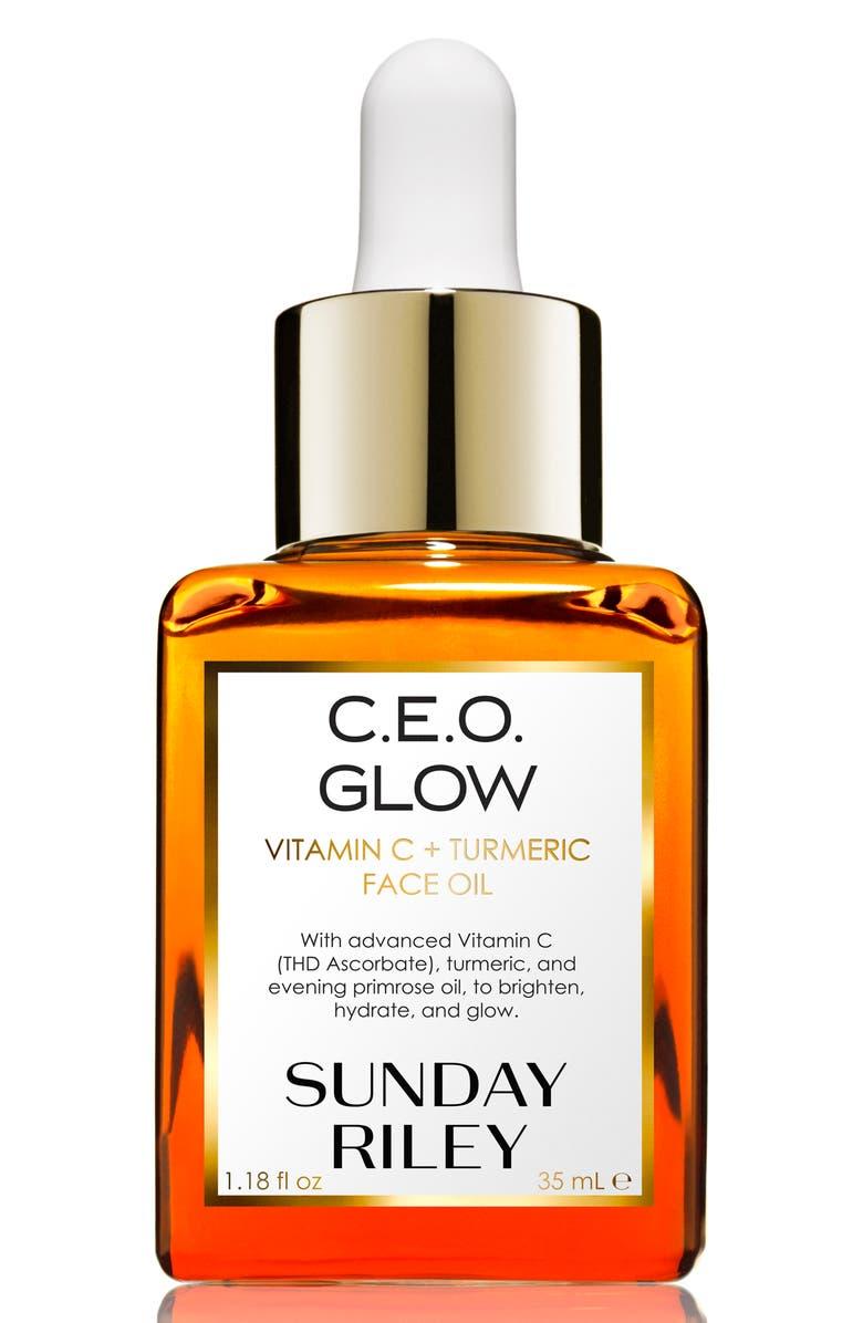 SUNDAY RILEY C.E.O. Glow Vitamin C + Turmeric Face Oil, Main, color, NO COLOR