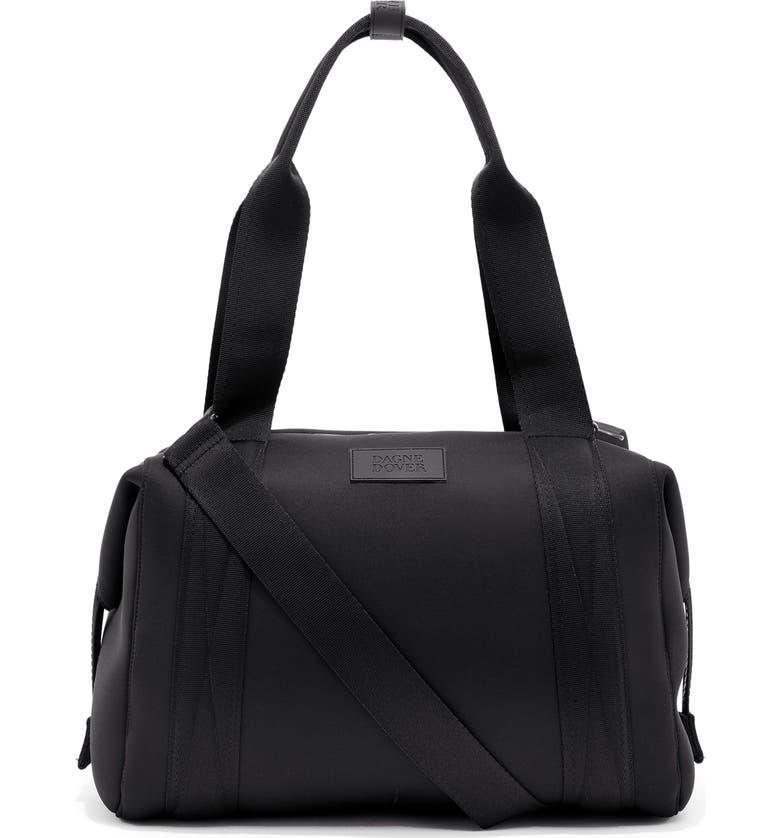 DAGNE DOVER Medium Landon Neoprene Carryall Duffle Bag, Main, color, ONYX