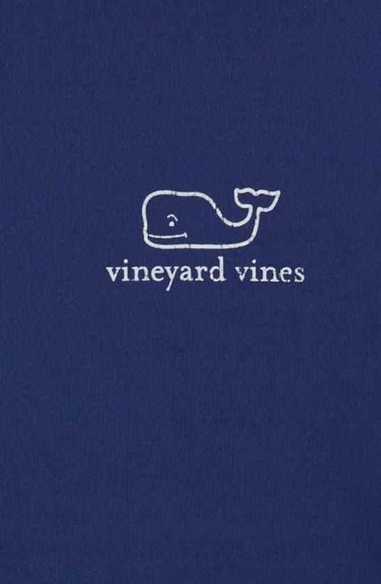 Vineyard Vines Kids' Long Sleeve Rashguard Top In Deep Bay