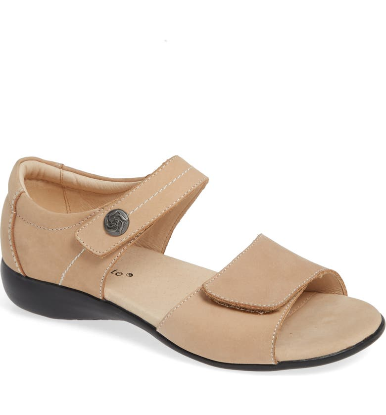 DAVID TATE Superb Sandal, Main, color, TAUPE NUBUCK LEATHER