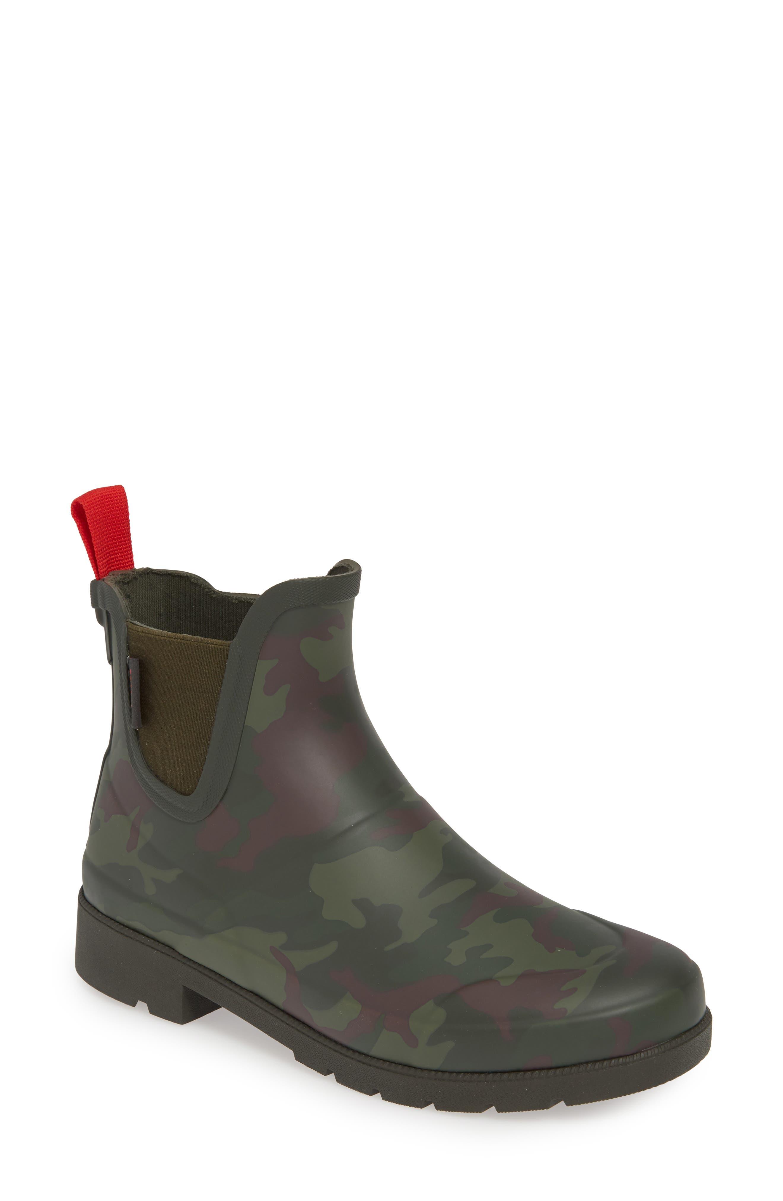 Tretorn Lina 2 Waterproof Chelsea Rain Boot, Green