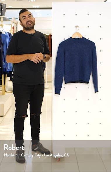 Tipped Alpaca & Merino Wool Blend Crewneck Sweater, sales video thumbnail