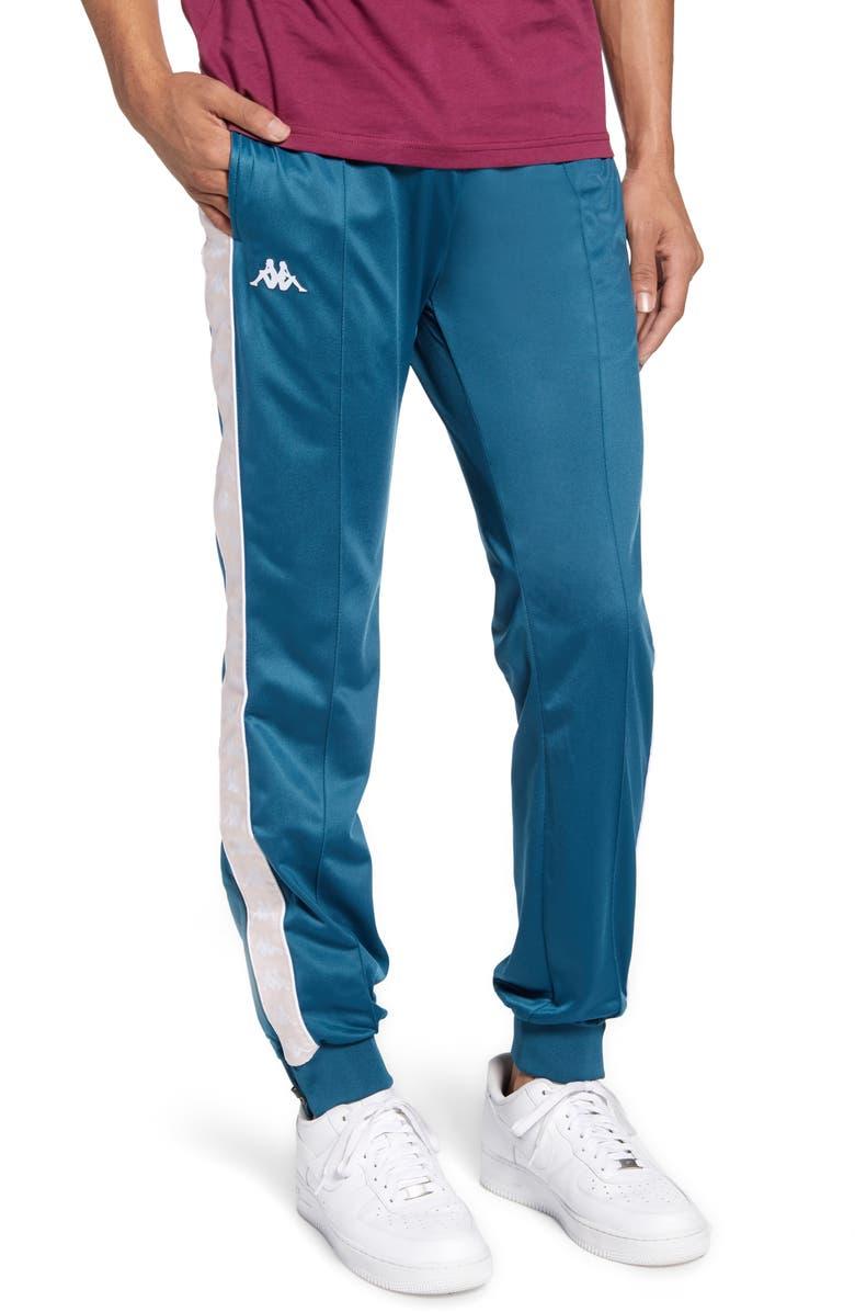 KAPPA 222 Banda Rastoriazz Slim Fit Track Pants, Main, color, BLUE PETROL-PINK