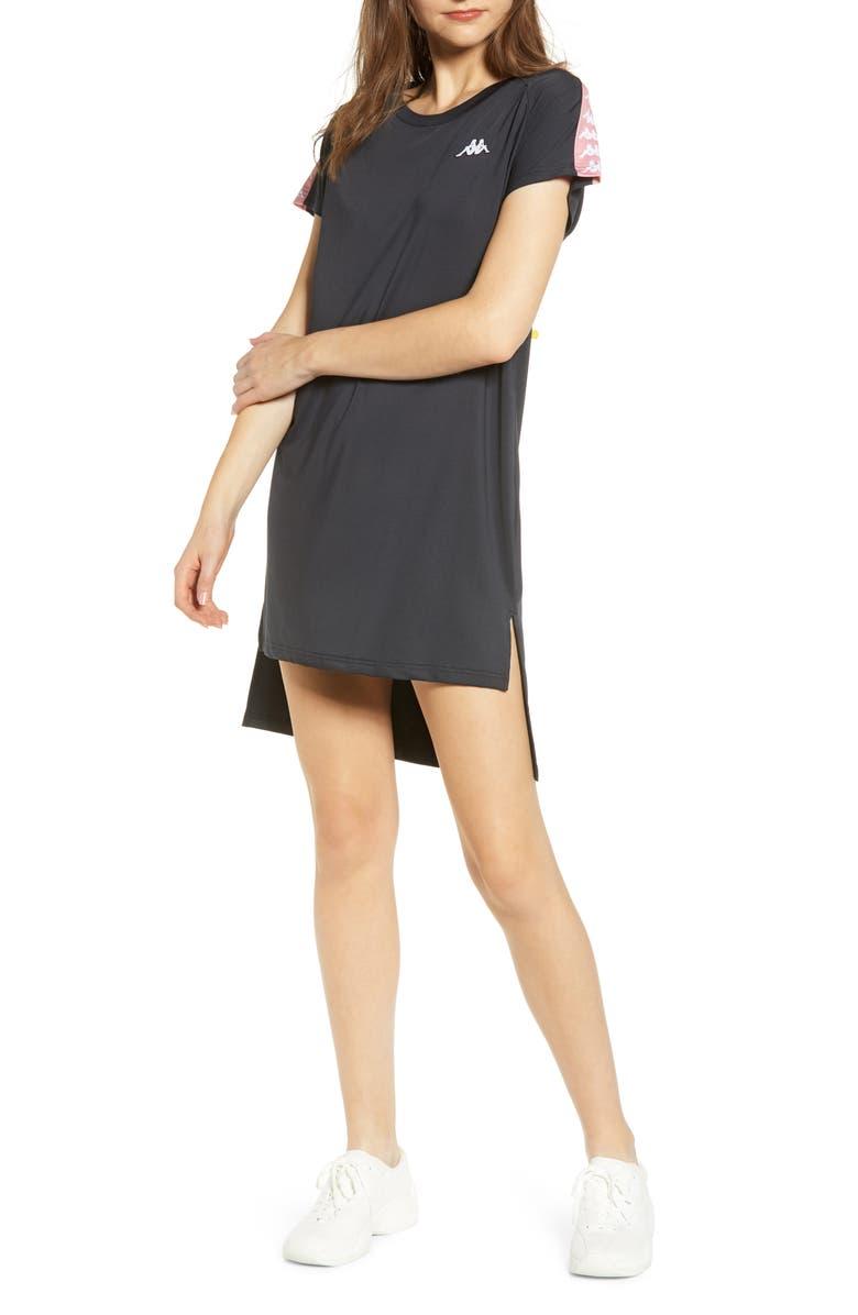KAPPA Banda Aurion T-Shirt Minidress, Main, color, 001