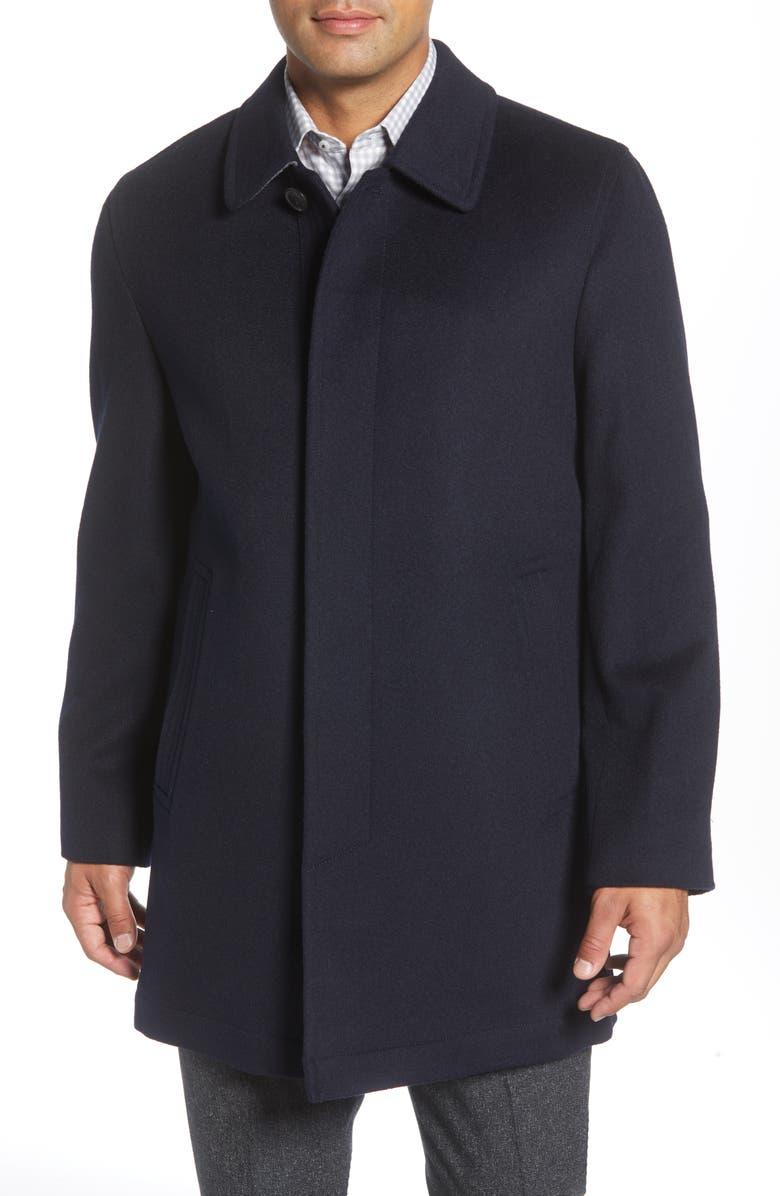 HART SCHAFFNER MARX Douglas Modern Fit Wool & Cashmere Overcoat, Main, color, 410