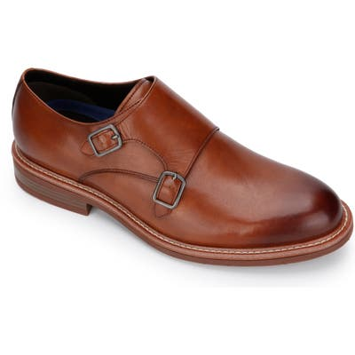 Kenneth Cole Reaction Klay Flex Double Monk Strap Shoe, Brown
