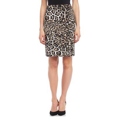 Karen Kane Leopard Print Pencil Skirt, Brown