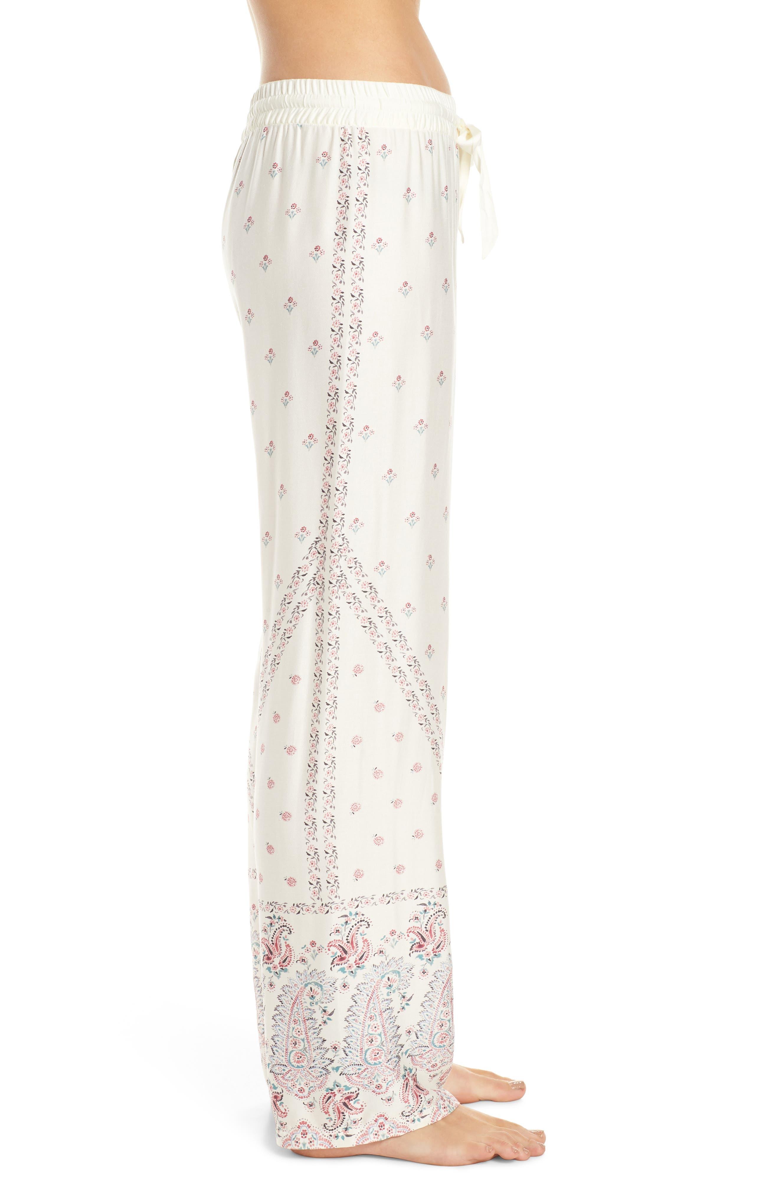 ,                             Paisley Park Pajama Pants,                             Alternate thumbnail 3, color,                             ANTIQUE WHITE