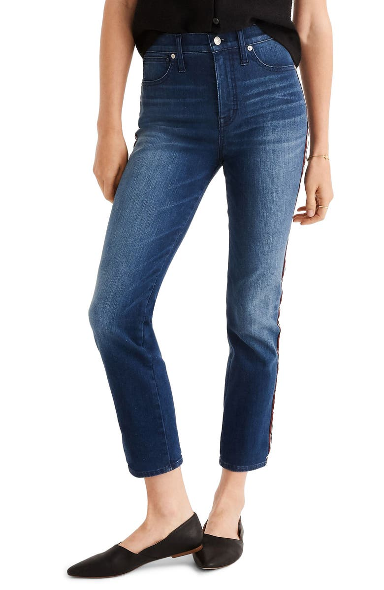 MADEWELL Tux Stripe Stovepipe Jeans, Main, color, SOUTHAVEN WASH
