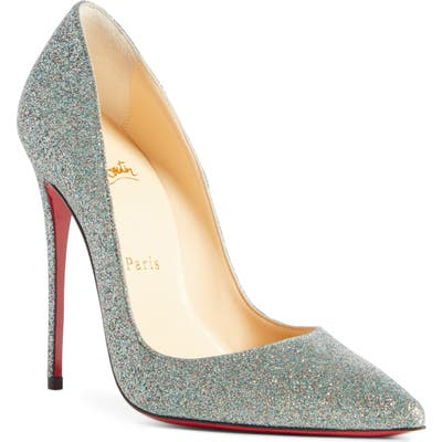 Christian Louboutin So Kate Glitter Pointy Toe Pump, Green