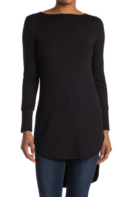 Image of Go Couture Graphic Boatneck Top