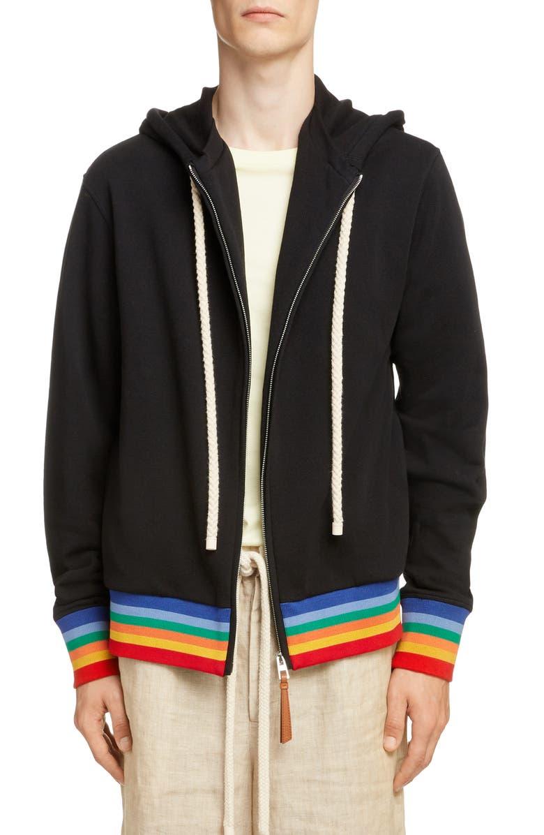 Loewe Rainbow Rib Zip Hoodie | Nordstrom