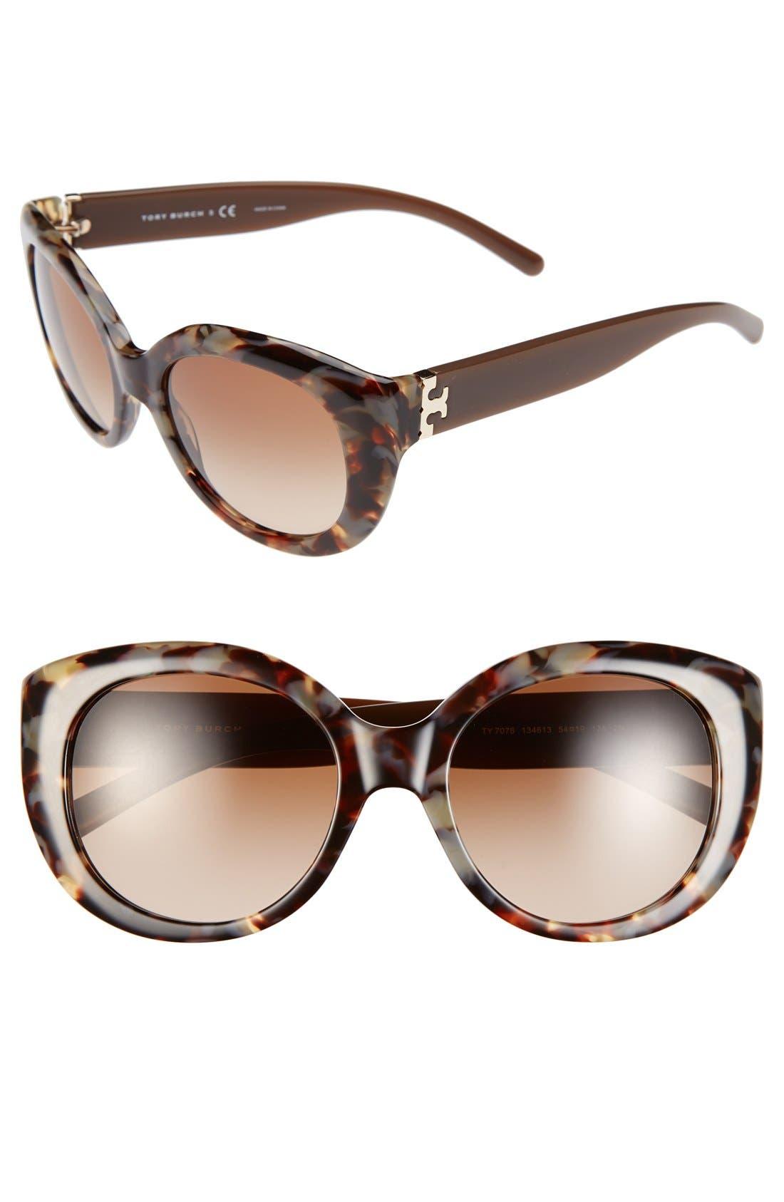 ,                             54mm Cat Eye Sunglasses,                             Main thumbnail 3, color,                             250
