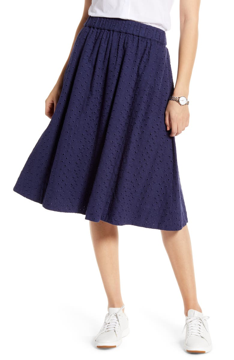 1901 Eyelet Midi Skirt, Main, color, 410