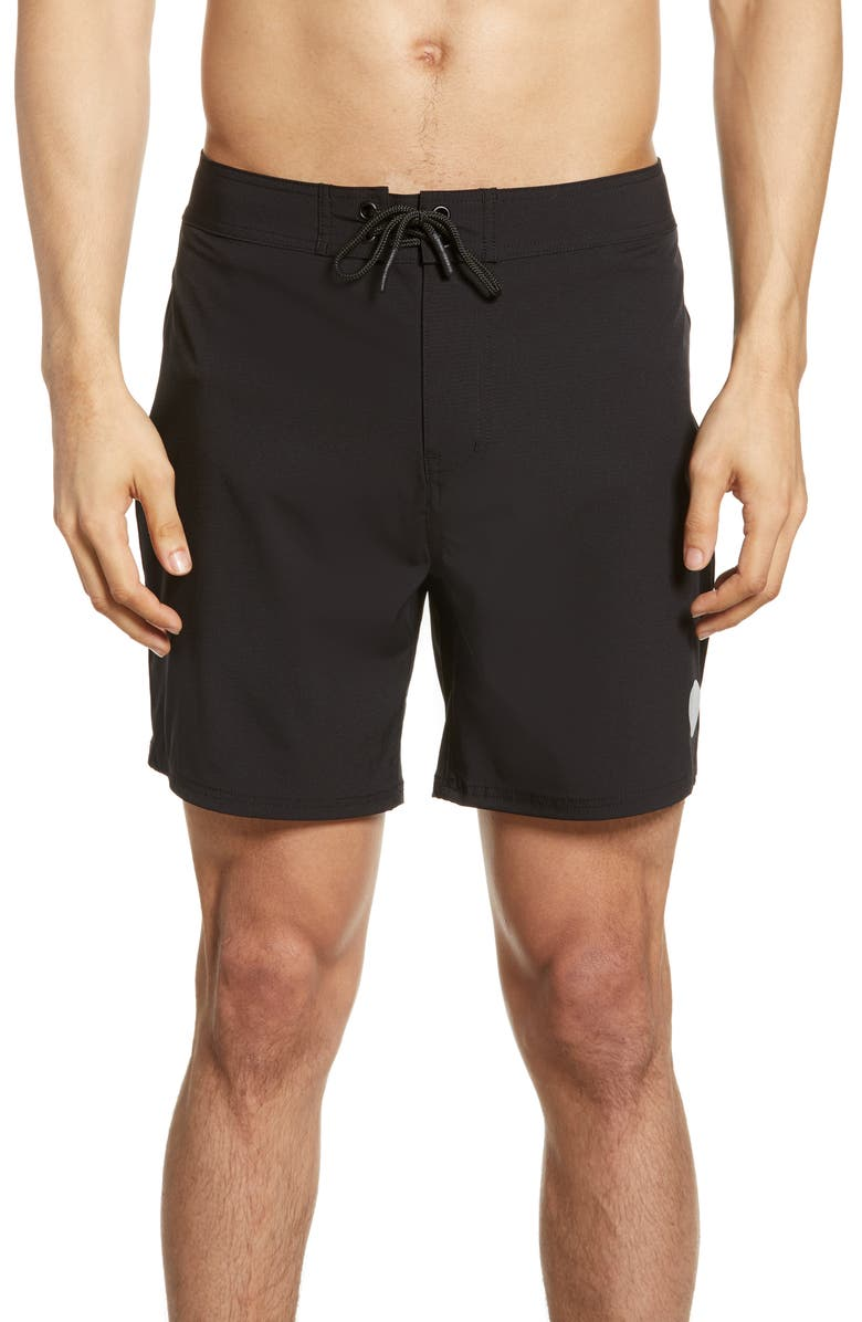 SATURDAYS NYC Danny Swim Trunks, Main, color, BLACK