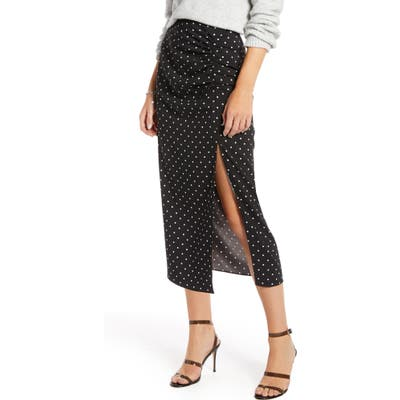 Something Navy Shirred Slip Skirt, Black (Nordstrom Exclusive)
