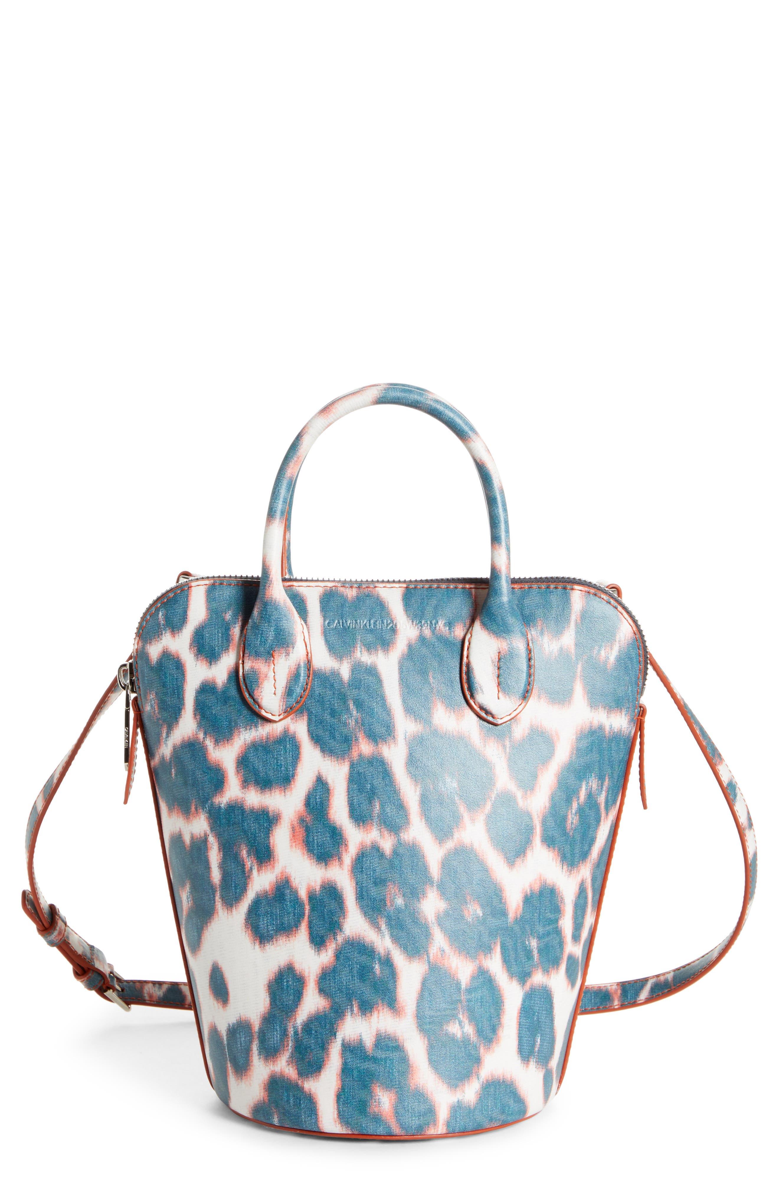 Mini Dalton Calfskin Bucket Bag, Main, color, ELECTRIC PANTHER