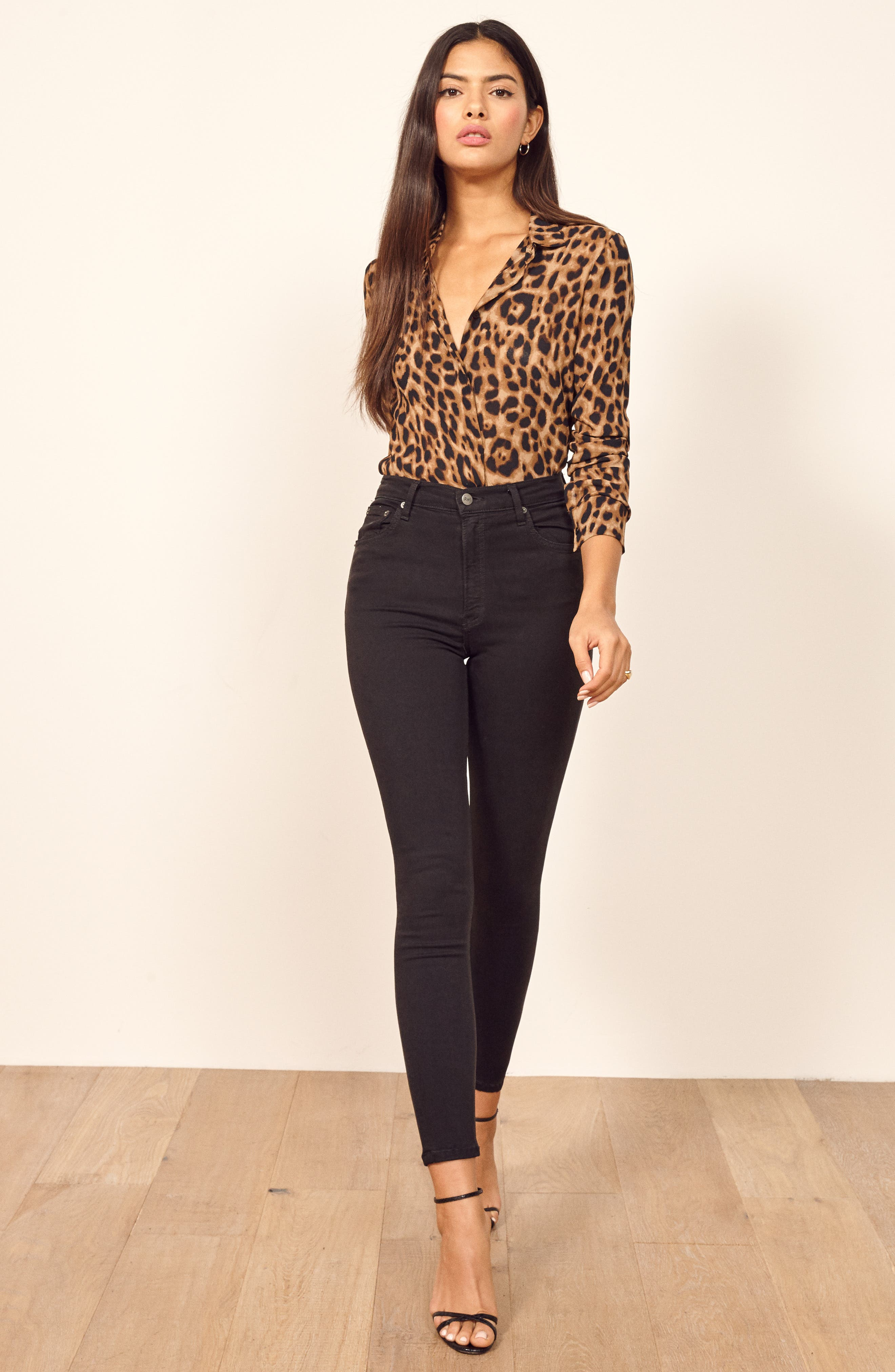,                             High & Skinny Crop Jeans,                             Alternate thumbnail 7, color,                             FADED BLACK