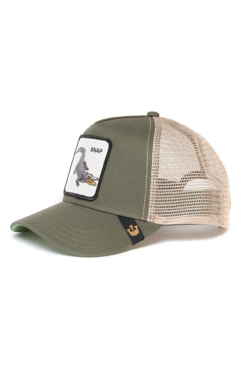 GOORIN BROS. Snap at Ya Trucker Hat, Main, color, OLIVE