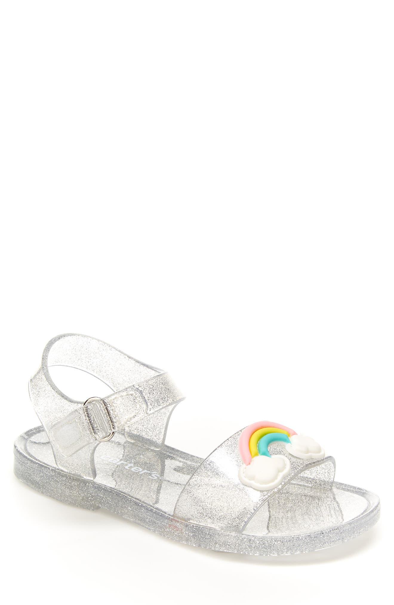 Image of Carter's Iris Clear Rainbow Sandal