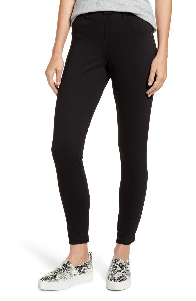 HUE Ultrasoft Denim Leggings, Main, color, BLACK
