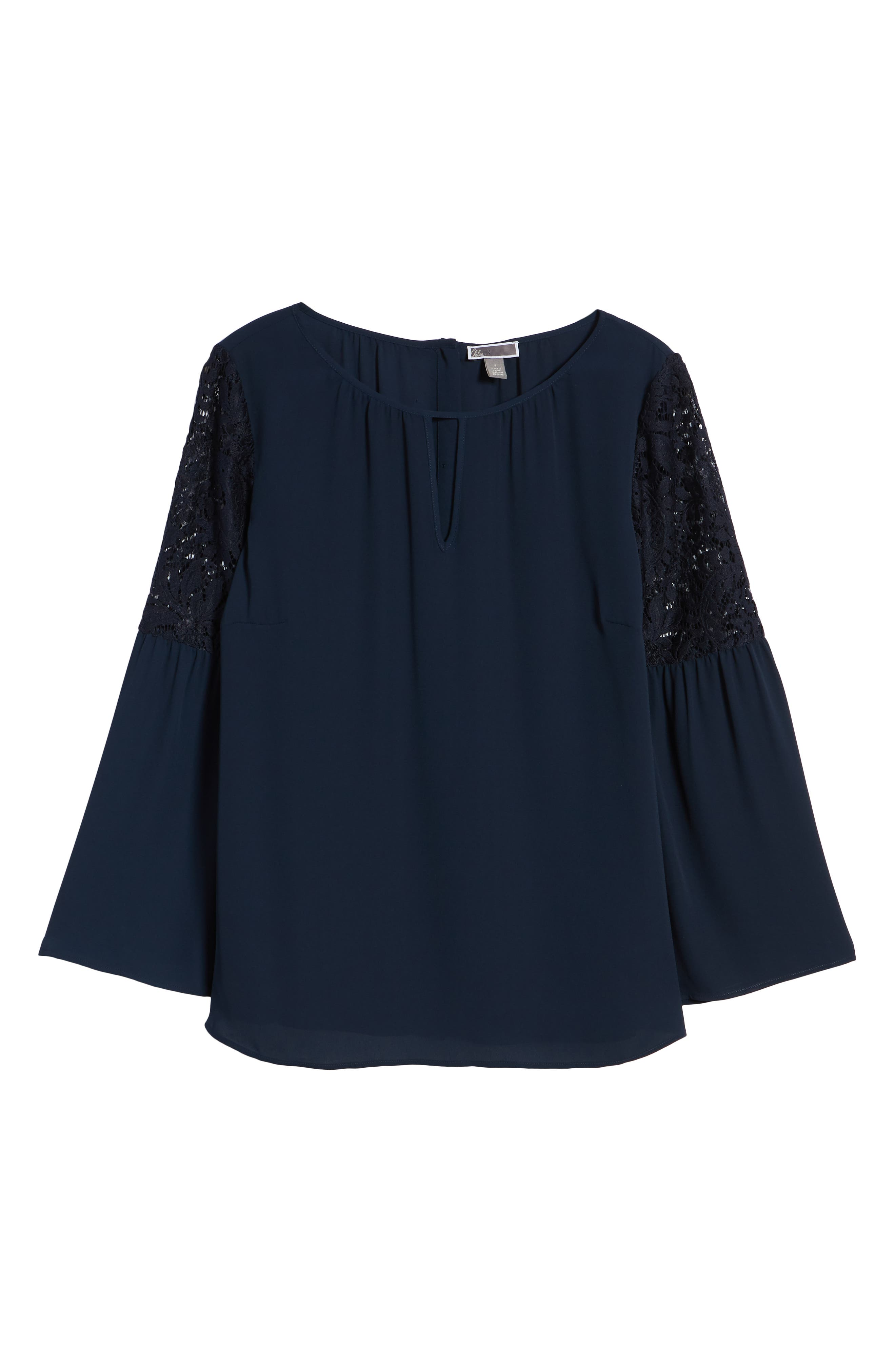 ,                             Lace Bell Sleeve Top,                             Alternate thumbnail 25, color,                             410