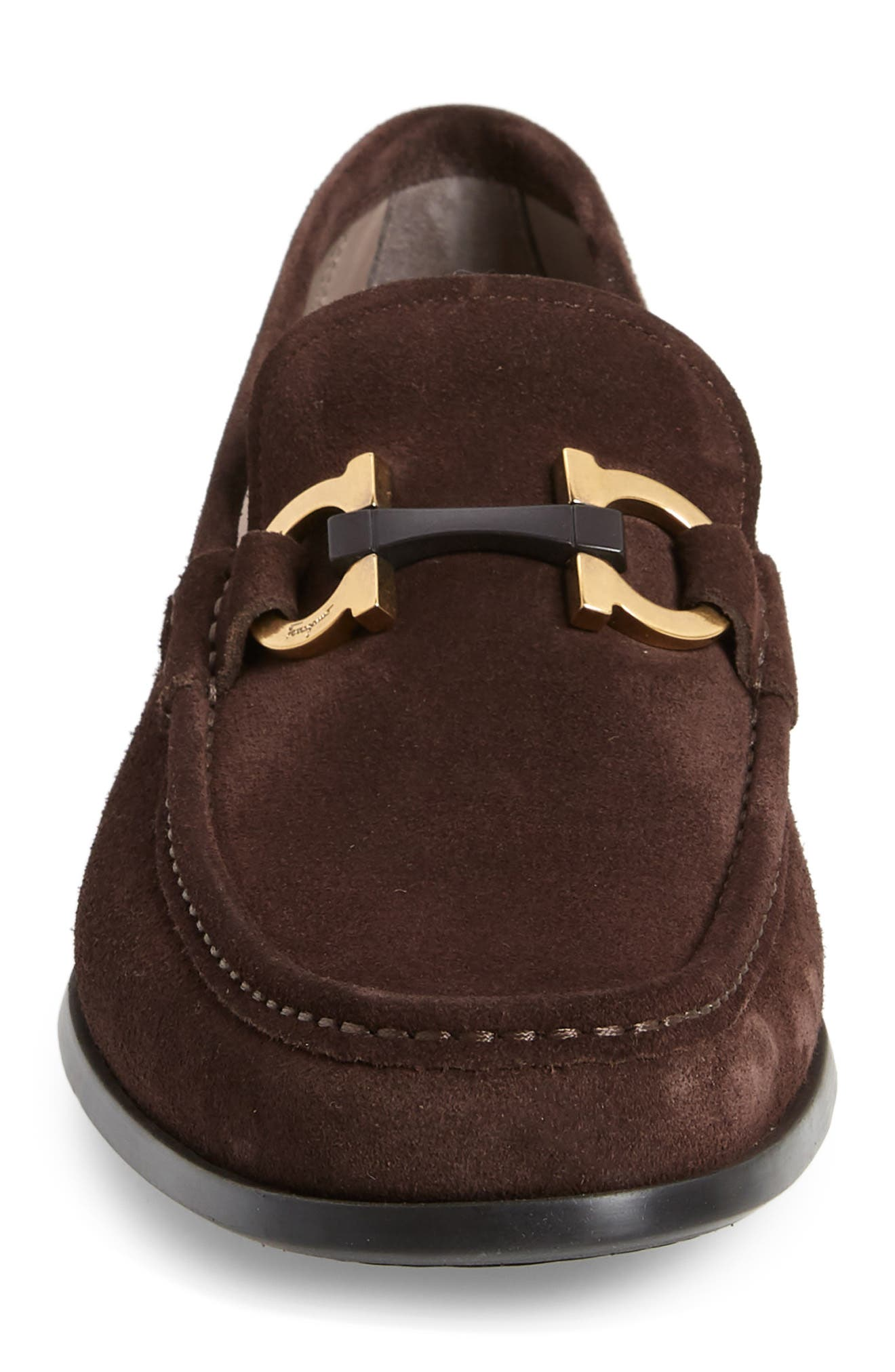 ,                             Grandioso Bit Loafer,                             Alternate thumbnail 4, color,                             BROWN SUEDE