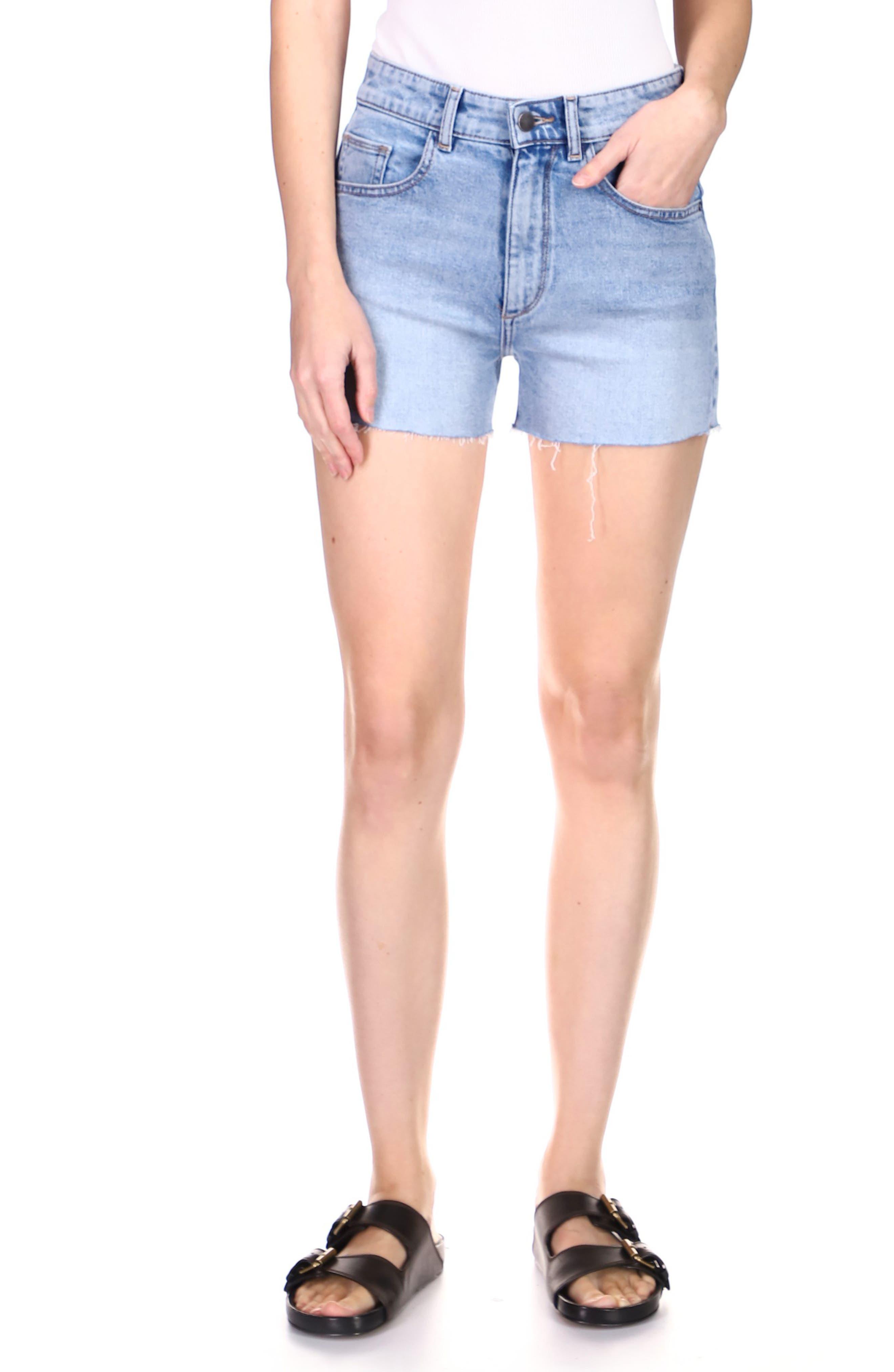 1961 Cecilia Classic Raw Hem High Waist Cutoff Denim Shorts