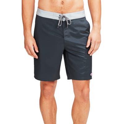 Vineyard Vines Solid Board Shorts, Grey