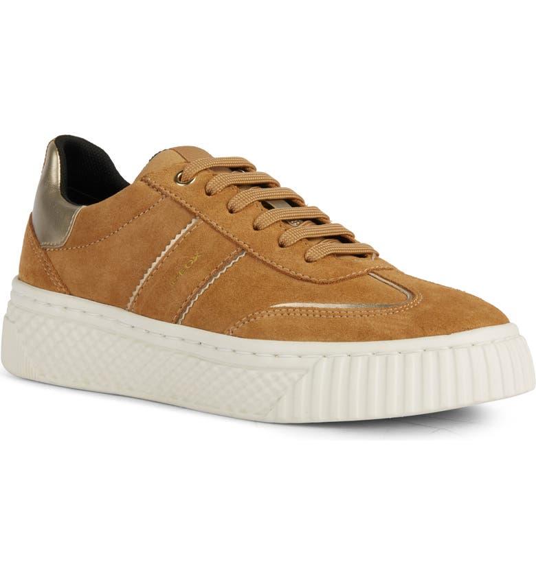 GEOX Licena Platform Sneaker, Main, color, CAMEL/ CHAMPAGNE