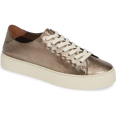 Frye Lena Woven Low Top Sneaker, Metallic