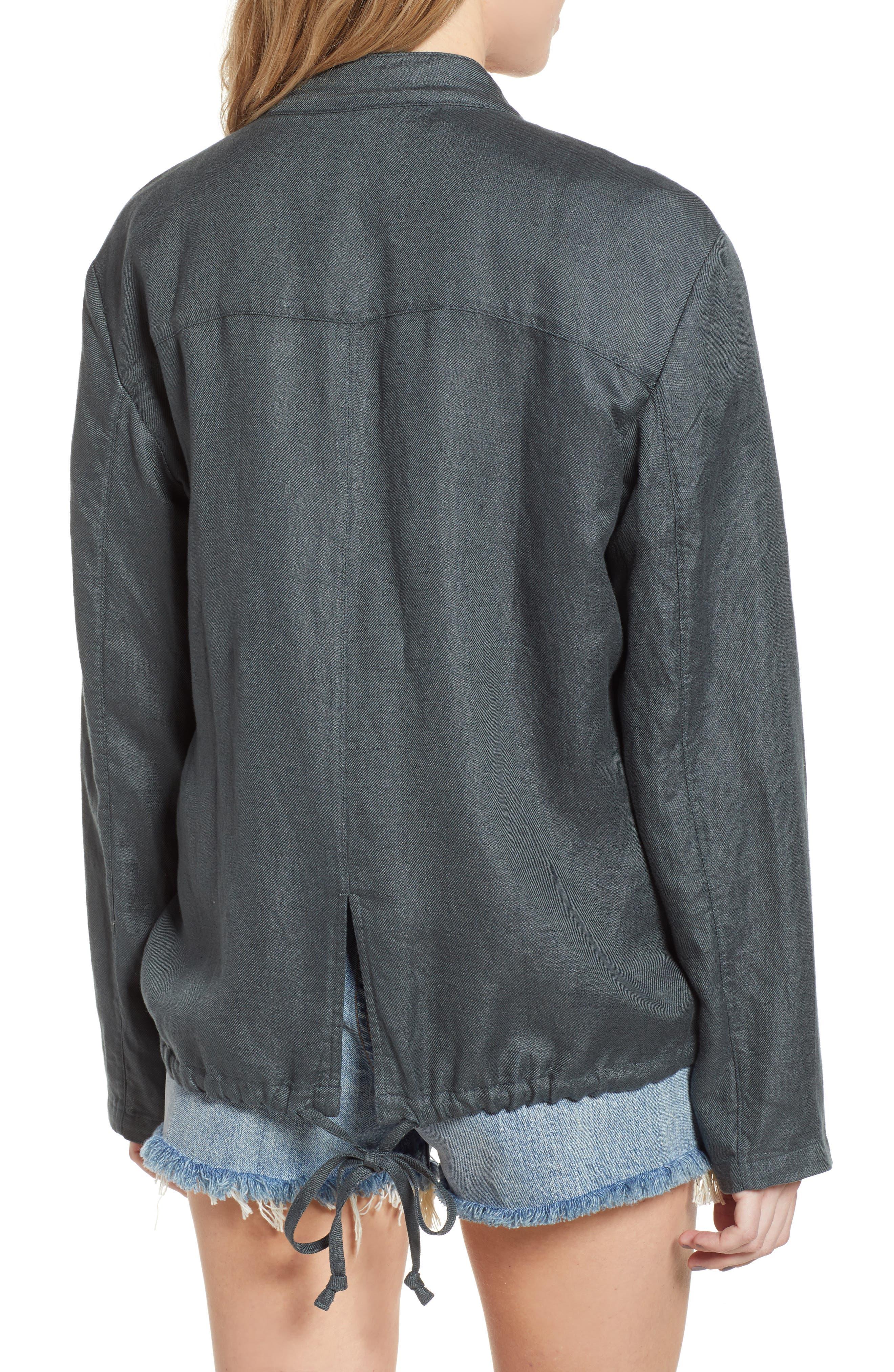 ,                             Oversize Military Jacket,                             Alternate thumbnail 2, color,                             GREY URBAN