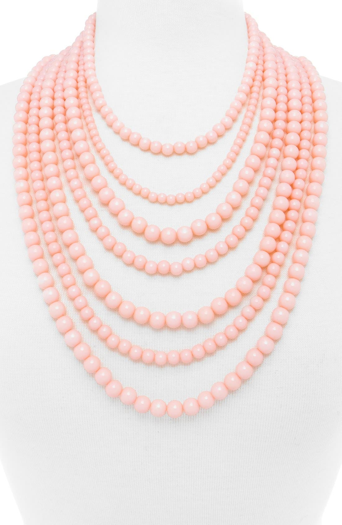 ,                             'Bold' Multistrand Beaded Statement Necklace,                             Alternate thumbnail 28, color,                             650