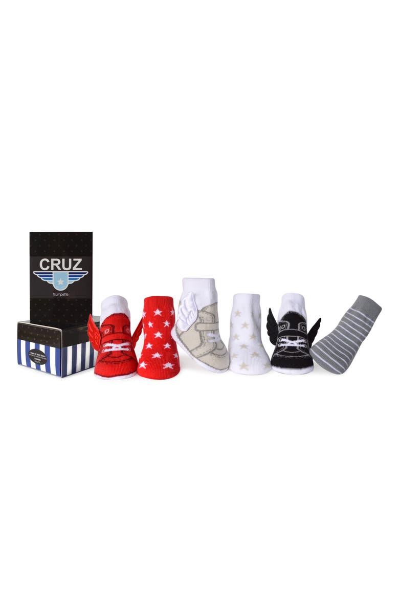 TRUMPETTE Cruz Assorted 6-Pack Socks, Main, color, ASSORTED BRIGHTS